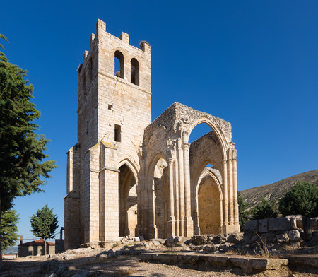 palencia province: abandoned of the  Church of Santa Eulalia in Palenzuela.  Province of Palencia,   Spain
