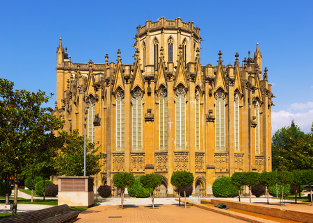 Day view of Cathedral of Mary Immaculate. Vitoria-Gasteiz Stock Photo