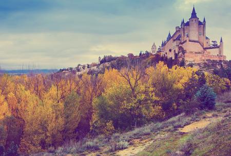 segovia: Castle of Segovia in november.  Spain