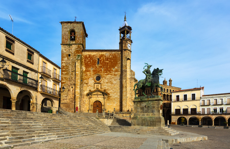 View of Plaza Mayor at Trujillo, Caceres. Spain Editorial