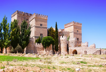 View of castle of  Ampudia.   Province of Palencia, Castile and Leon, Spain
