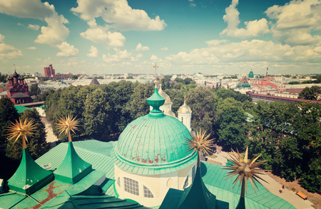 yaroslavl: Top view of old district of Yaroslavl. Russia