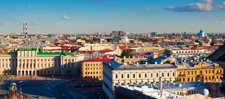 peterburg: Top view of city from Saint Isaacs Cathedral. St. Petersburg, Russia