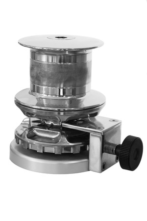 New horizontal anchor windlass with electric motor, isolated