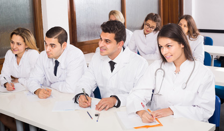 medical school: russian  health-care workers during educational program in medical school