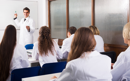 adult russian health-care workers during educational program in medical school