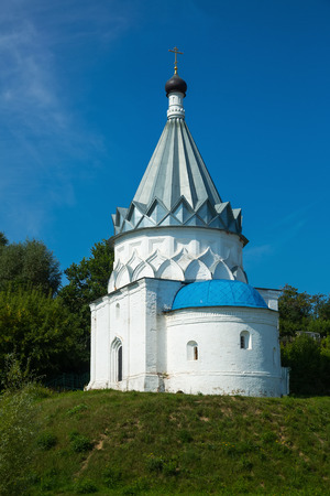 View on saints cosmas and damian church on clear summer day in Murom, Russia
