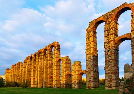 Acueducto de los Milagros a Merida. Spagna