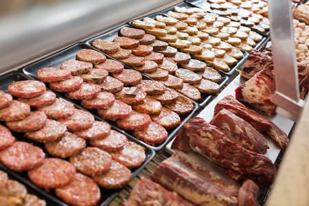 assort: burger assort on counter in bakers shop, close up