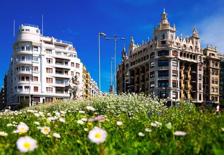 Day view  of Euskadi square   at  San Sebastian.  Basque Country, Spain
