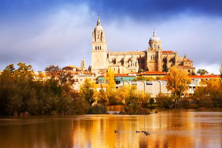salamanca: view of Salamanca Cathedral in autumn. Spain