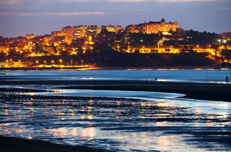 View of  Santander in  evening time.  Cantabria,   Spain