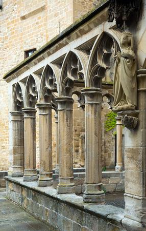 santa maria: Details of Santa Maria la Real  at Olite.  Spain