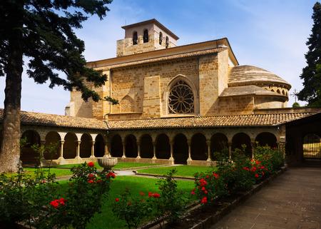 cloister of Church of San Pedro de la Rua at Estella. Navarre,   Spain