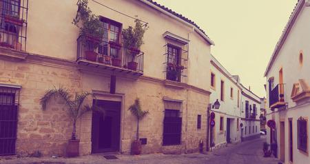 jerez de la frontera: Old street in european city. Jerez de la Frontera