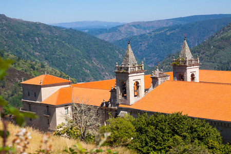 orense: General view of Monastery of San Esteban. Spain Stock Photo