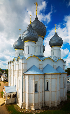 Russian orthodox The Cathedral of the Dormition in small provincial town Rostov build 1508-1512 Stock Photo