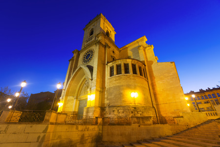 Wide angle shot of Cathedral  of San Juan de Albacete in early morning.   Spain