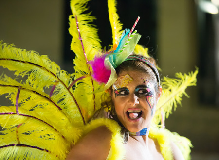 SITGES,  SPAIN - FEBRUARY 7, 2016:   Carnival at Spain in  Sitges, Catalonia Editorial
