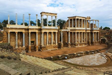 Ancient Roman Theatre  in  Merida.  Spain