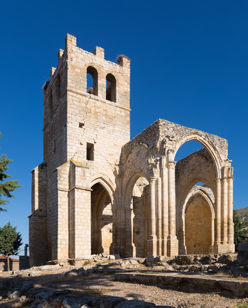 abandoned of the  Church of Santa Eulalia in Palenzuela.  Province of Palencia, Castile and Leon, Spain
