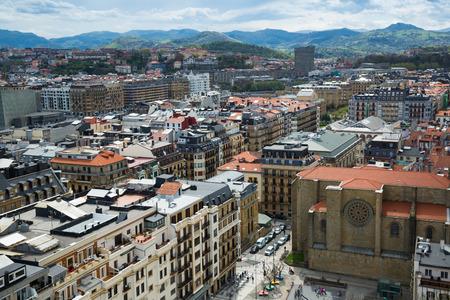 Above view of San Sebastian. Spain