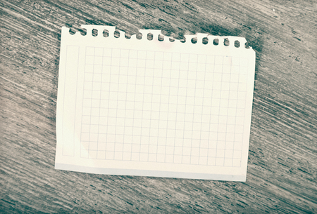 not open: Torn-off sheet of notebook on table Stock Photo