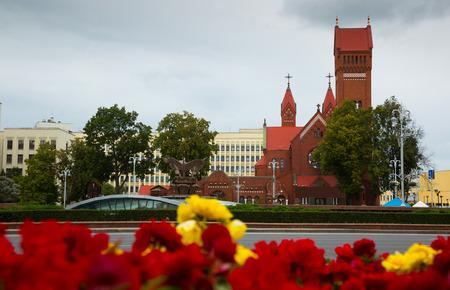 MINSK, BELARUS - SEPTEMBER 03, 2016: Church of Saints Simon and Helena, Minsk, Belarus