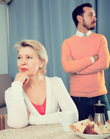 Son criticizes his mature mother and proves to her his position