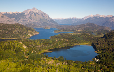 Mountain Cerro Campanario and lake in national park Nahuel Huapi. San Carlos de Bariloche, Argentina, South America