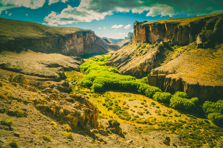 suelo arenoso: General view of the Pinturas River Canyon in Santa Cruz province in Argentina