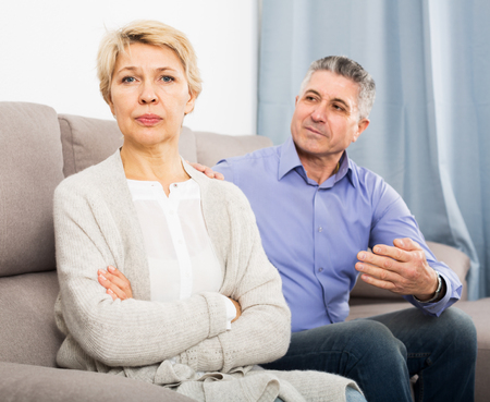 Aged husband and wife find out relationship and sort out family problems
