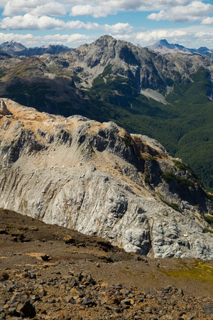 mount tronador: Spectacular view on Tronador volcano of the Southern Andes and Alerce and Castano Overa glaciers
