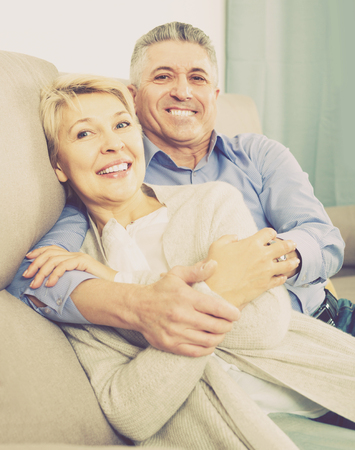 dulcet: Mature married couple understand and love each other and are happy in house