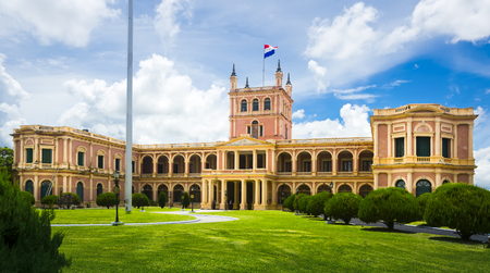 Palacio de los Lopez of impressive architecture in central part of Asuncion Editorial