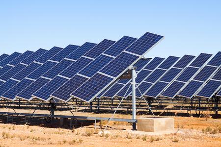 Power  panel system at spanish desert