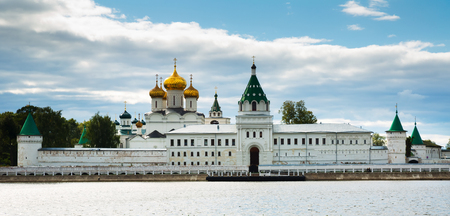 kostroma: Scenic view of Ipatievsky (Hypatian) Monastery in summertime, Kostroma Stock Photo