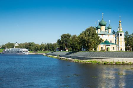 russian orthodox Transfiguration cathedral in Uglich Kremlin complex, Russia Stock Photo