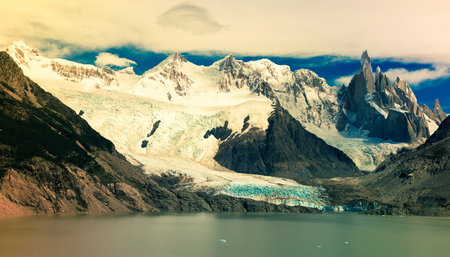mountaintops: View on mountaintops and surroundings in Los Glaciares National Park in Argentina