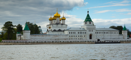 kostroma: Scenic view of Ipatievsky (Hypatian) Monastery in summertime, Kostroma Editorial