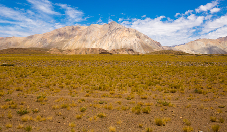 picturesque: General view of the Andes from valley near Las Lenas in Argentina Stock Photo