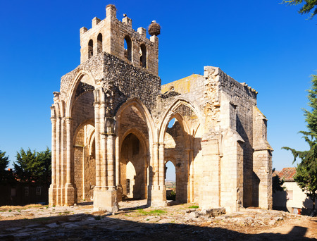 Ruins of  Church of Santa Eulalia in Palenzuela.  Province of Palencia,  Spain Stock Photo