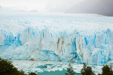 Steep slope of glacier Perito Moreno (Glaciar Perito Moreno) located in national park Los Glyacious. Patagonia, Argentina Stock Photo