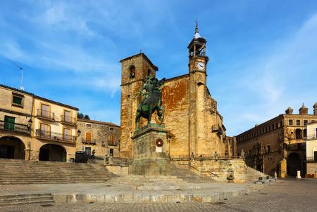 Plaza Mayor at Trujillo. Spain Editorial