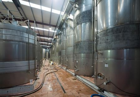 inoculation: Interior of wine plant shop with modern equipment