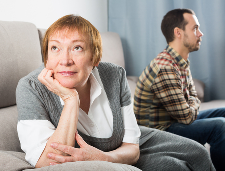 average guy: Elderly mother and son quarrel with each other and find out relationship