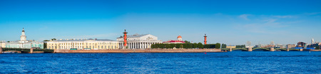 View of St. Petersburg.  Spit of Vasilievsky Island  in sunny day