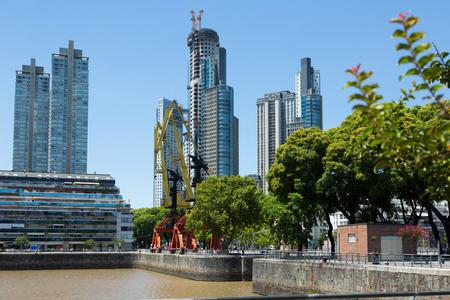 prestigious: Region Puerto Madero in city of Buenos Aires, coast of gulf La Plata. Buenos Aires. Argentina Stock Photo
