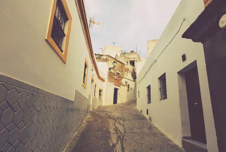 picturesque street of Arcos de la Frontera,  Spain Imagens