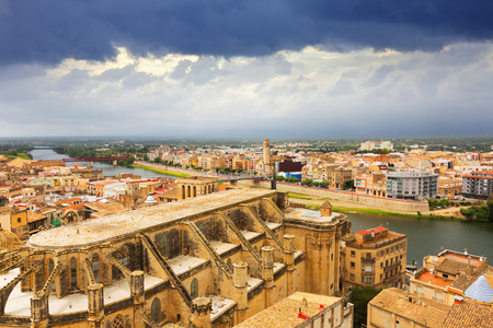 view of Tortosa from  castle. Catalonia, Spain Editorial